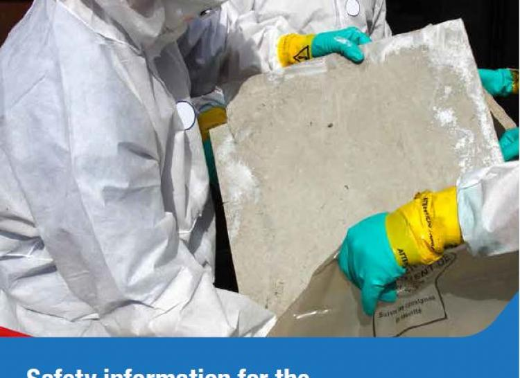 Asbestos removalist with asbestos sheeting