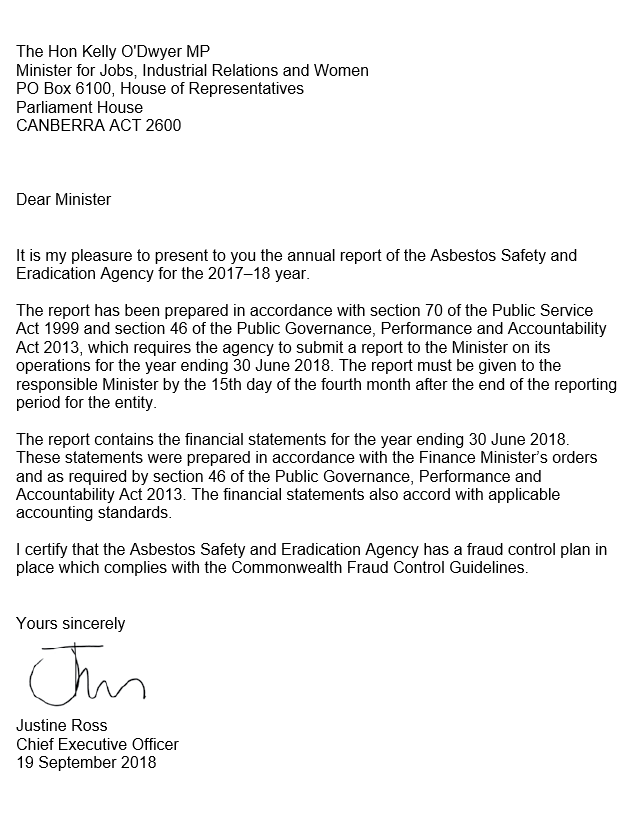 What Is A Letter Of Transmittal from www.asbestossafety.gov.au