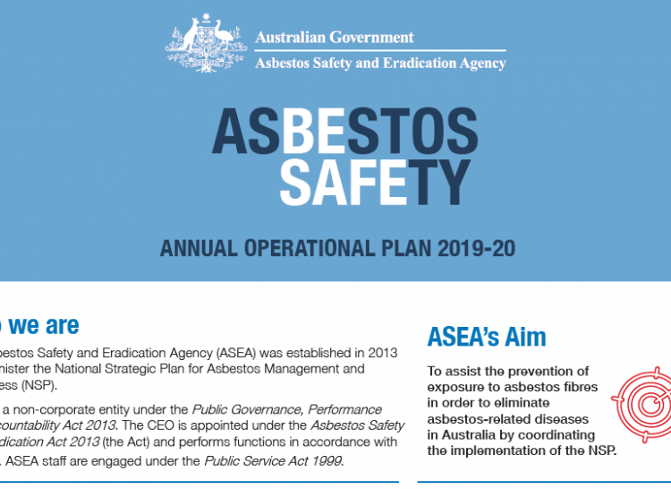 Asbestos Safety and Eradication Agency - Operational Plan 2019-20