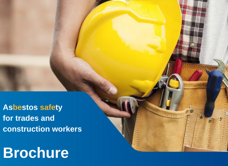Brochure cover for construction workers booklet
